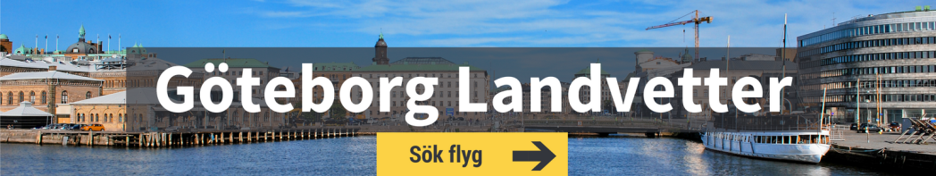Sök flyg från Göteborg Landvetter