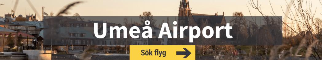 Sök flyg från Umeå Airport