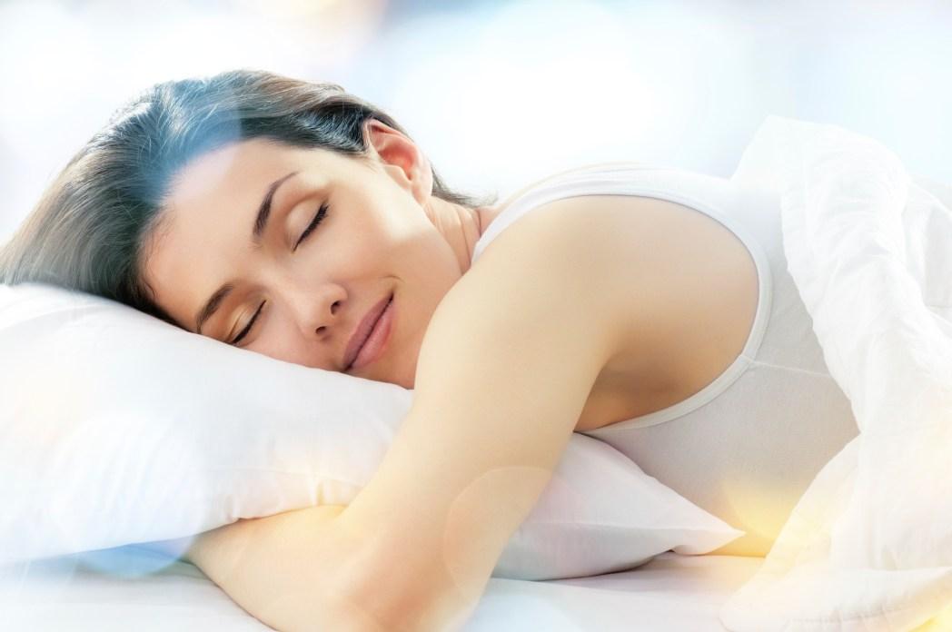 Kvinna som vilar