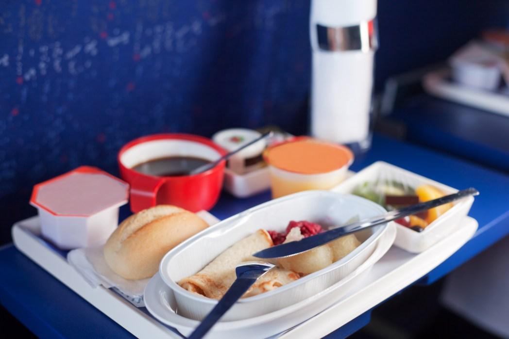 Mat ombord på flygplan