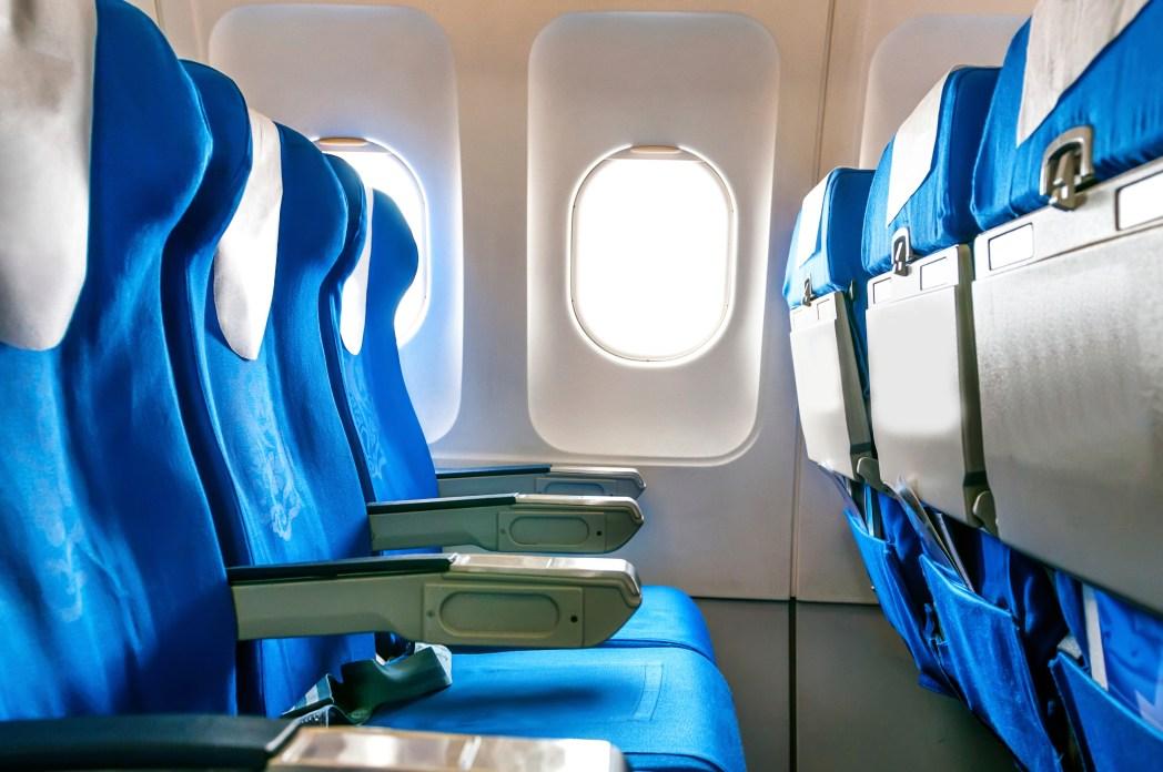 Tomma säten ombord på flygplan