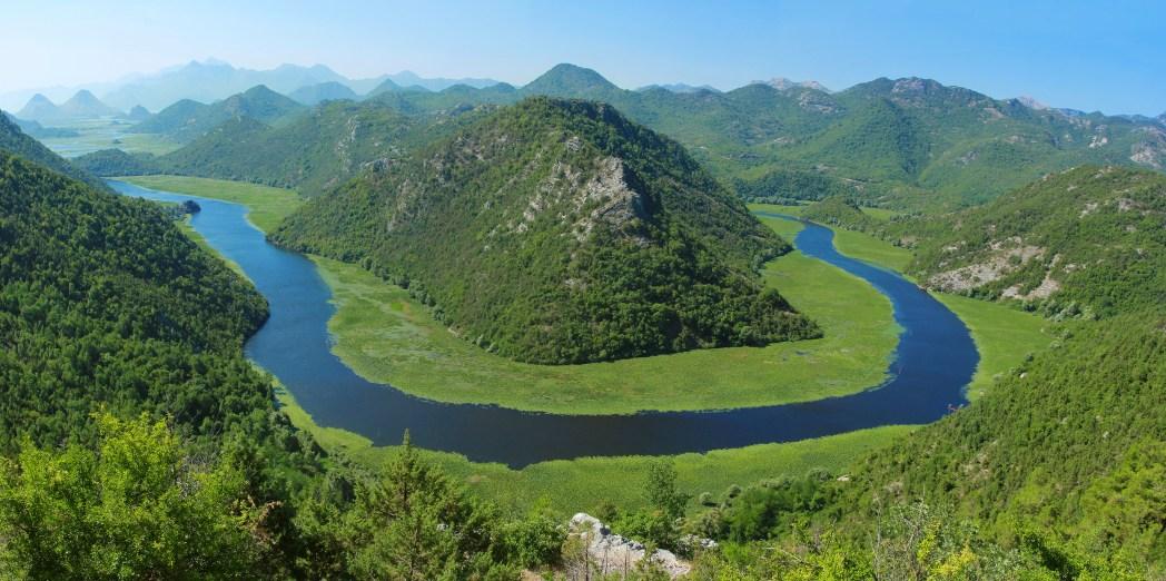 Shkodërsjön, mellan Albanien och Montenegro