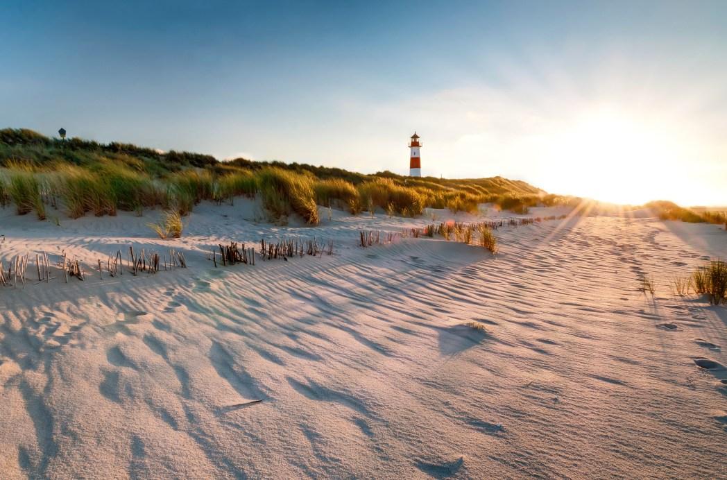 Stranden Sylt i Tyskland