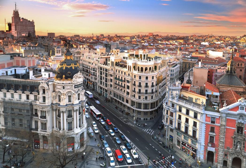 Madrid från ovan